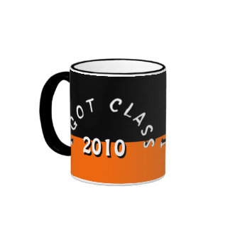 I Got Class (Black and Tangerine) Ringer Mug
