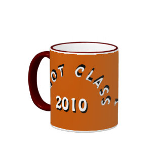 I Got Class (Burnt Orange and White) Ringer Mug