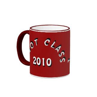 I Got Class (Dark Crimson and White) Ringer Coffee Mug