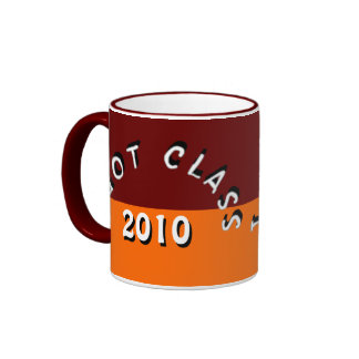 I Got Class (Maroon and Tangerine) Ringer Mug