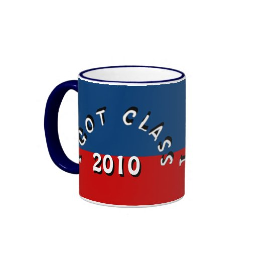 I Got Class (Midnight Blue and Red) Mug