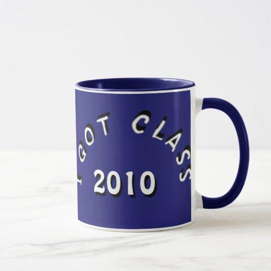 I Got Class (Midnight Blue and White) Mug
