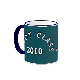 I Got Class (Midnight Green and White) Ringer Coffee Mug