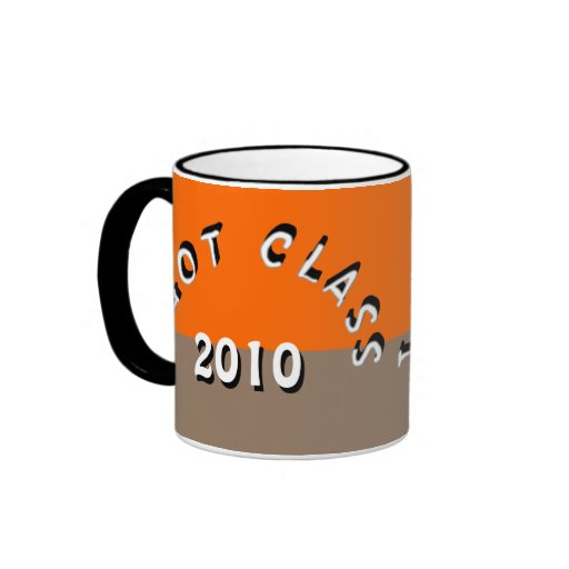 I Got Class (Orange and Light Brown) Ringer Coffee Mug