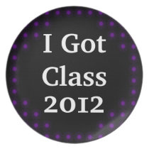 I Got Class Purple and Black Dinner Plate
