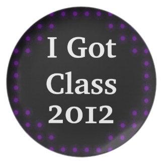 I Got Class Purple and Black Dinner Plate