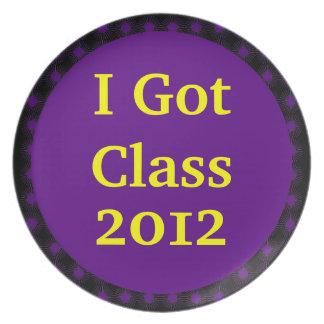 I Got Class Purple Yellow-Gold Plate