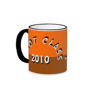 I Got Class (Tangerine and Brown) Ringer Mug
