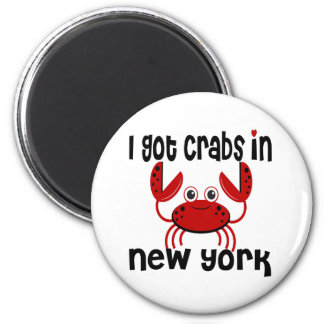 I Got Crabs in NY 2 Inch Round Magnet