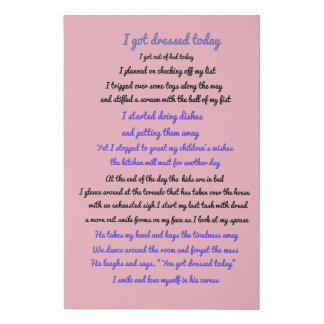 I got dressed today faux canvas print