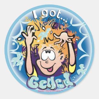 I Got Gelled! StyleStickers™ ©2009 LT Classic Round Sticker