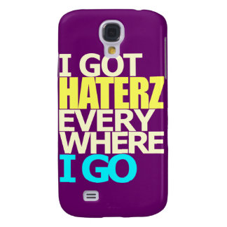 I Got Haterz 3G 3GS Purple Galaxy S4 Cover