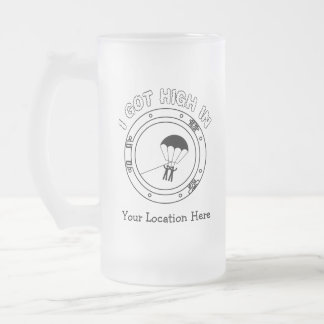 I Got High - Personalized Frosted Glass Beer Mug