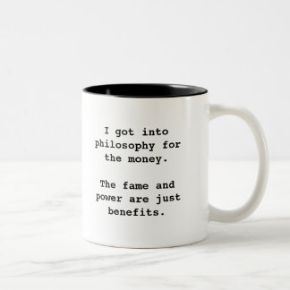 I Got Into Philosophy For...2-tone blk (left-hand) Two-Tone Coffee Mug