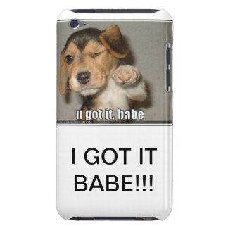 I got it babe iPod touch cover