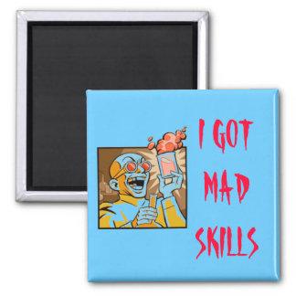 I GOT MAD SKILLS 2 INCH SQUARE MAGNET