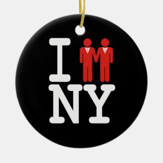 I GOT MARRIED IN NY MEN -.png Ceramic Ornament