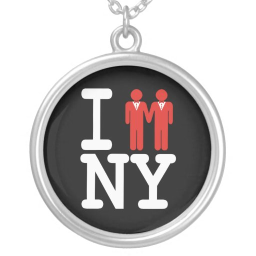 I GOT MARRIED IN NY MEN -.png Round Pendant Necklace