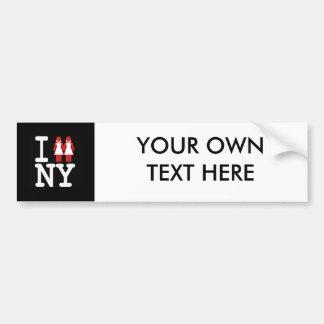 I GOT MARRIED IN NY WOMEN -.png Car Bumper Sticker