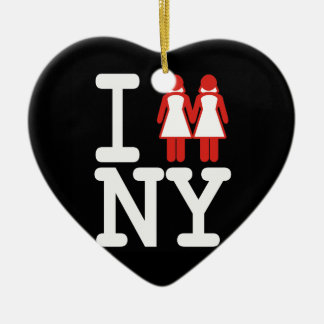 I GOT MARRIED IN NY WOMEN -.png Ceramic Ornament