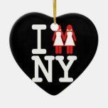 I GOT MARRIED IN NY WOMEN -.png Christmas Ornaments