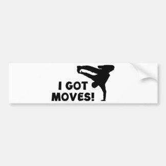 I GOT MOVES! BUMPER STICKER