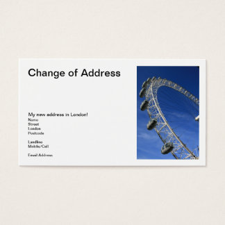 I Got My Eye On London Change of Address Cards