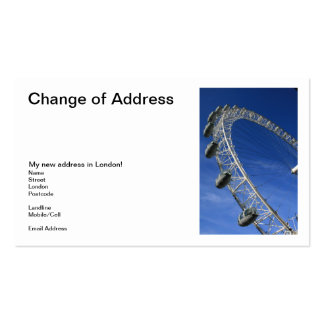 I Got My Eye On London Change of Address Cards Double-Sided Standard Business Cards (Pack Of 100)