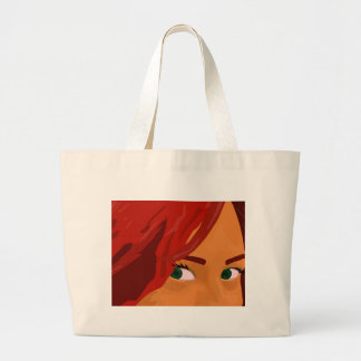 I got my eyes on you large tote bag
