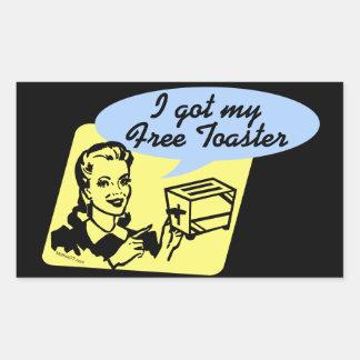 I Got My Free Toaster Stickers