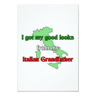 I got my good looks from my Italian Grandfather Invitations