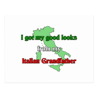 I got my good looks from my Italian Grandfather Postcard