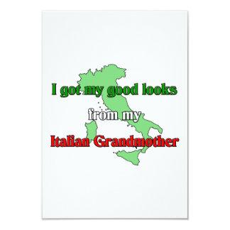 I got my good looks  from  my Italian grandmother Custom Invitation
