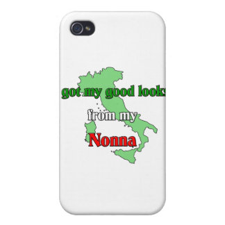 I got my good looks from my nonna iPhone 4 cases