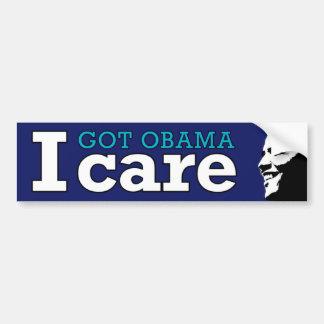 I (Got Obama) Care Car Bumper Sticker