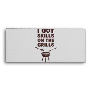 I Got Skills on the Grills Cookout BBQ Envelope