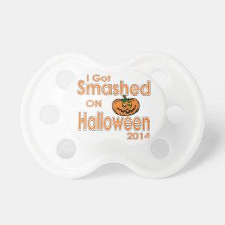 I Got Smashed Pumpkin Halloween 2014 Pacifier
