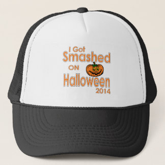 I Got Smashed Pumpkin Halloween 2014 Trucker Hat