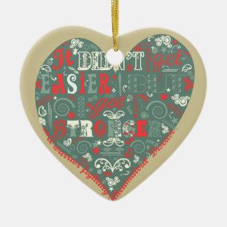 I got Stronger. Double-Sided Heart Ceramic Christmas Ornament