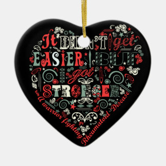 I got stronger heart ceramic ornament