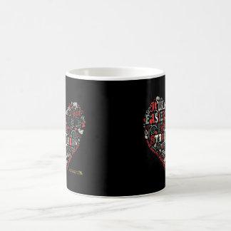 I got stronger - Heart Coffee Mug