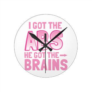 I got the ABS he got the BRAINS Round Clock