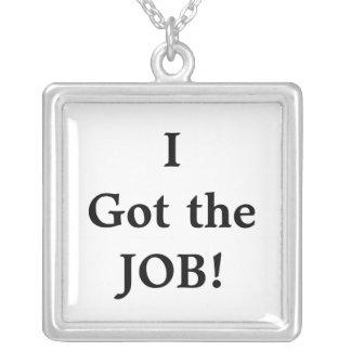 I Got the JOB!  Personal Celebration Necklace