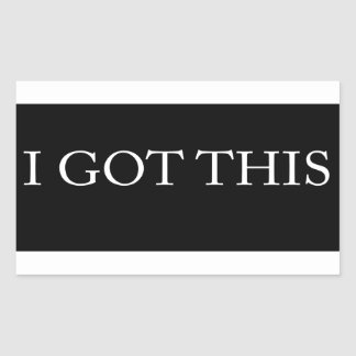 I GOT THIS funny motivational typography Rectangular Sticker