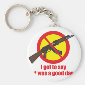 I got to say it was a good day basic round button keychain