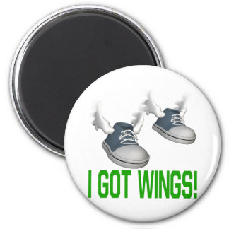 I Got Wings 2 Inch Round Magnet