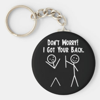 I Got Your Back! Basic Round Button Keychain