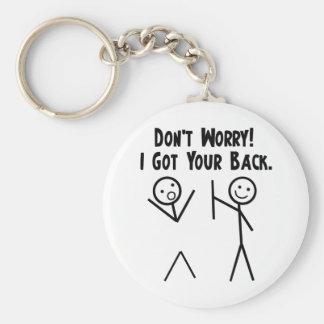 I Got Your Back! Basic Round Button Keychain