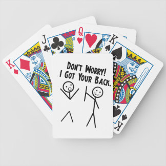 I got your back - Don't Worry Bicycle Playing Cards