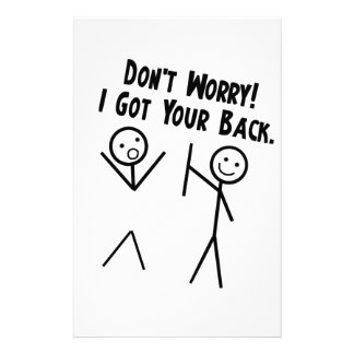 I got your back - Don't Worry Stationery